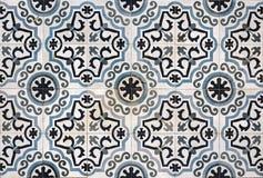 Ceramic floor tiles. Ornate ceramic floor tiles from a property in Lerapetra, Crete royalty free stock photos