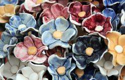 Ceramic flower Royalty Free Stock Photography