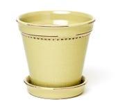 Ceramic Flower Pot Stock Photo