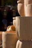Ceramic flower pots Stock Images