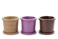 Ceramic Flower Pots Royalty Free Stock Photography
