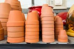 Ceramic flower pots. Stock Images