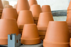 Ceramic flower pots. Royalty Free Stock Photos