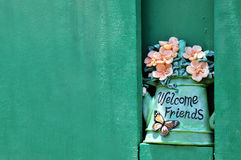 Ceramic flowerpot Stock Photo