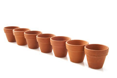 Ceramic flowerpots Royalty Free Stock Photos
