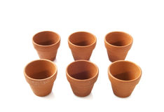 Ceramic flowerpots Royalty Free Stock Image