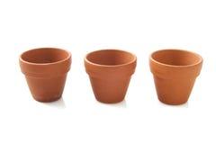Ceramic flowerpots Stock Images