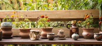 Ceramic flowerpots Royalty Free Stock Photos