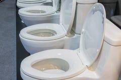 Ceramic flush toilet Stock Photo