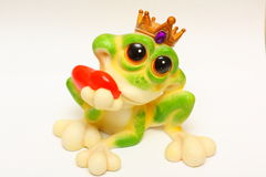 Ceramic frog. It is princess who was charmed in frog Stock Photo