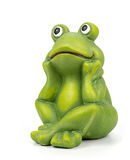 Ceramic frog on white background Stock Image
