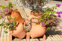 Ceramic garden pot Stock Images