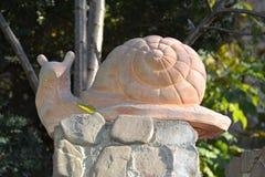 Ceramic garden snail Royalty Free Stock Photography