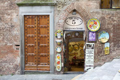 Ceramic gift shop, Siena, Tuscany, Italy Royalty Free Stock Image