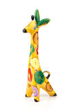 Ceramic giraffe. Toy isolated over white background Royalty Free Stock Photo