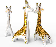 Ceramic giraffe figurine Stock Photos