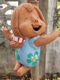Ceramic girl doll Stock Image