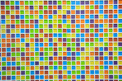 ceramic glass colorful tiles mosaic background Royalty Free Stock Photo