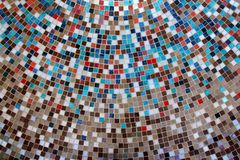 Ceramic glass colorful tiles mosaic composition Royalty Free Stock Photo