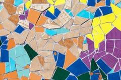 Ceramic glass colorful tiles mosaic Royalty Free Stock Photos