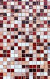 Ceramic glass tiles mosaic composition pattern backgrou Royalty Free Stock Images