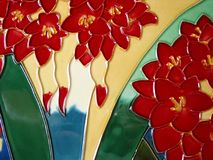 Ceramic glazed painting. A part of clay pattern Royalty Free Stock Images