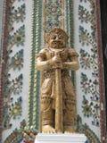 Ceramic god. Ceramic statue at temple in Thailand Stock Photo