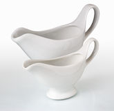 Ceramic gravy boat royalty free stock photos