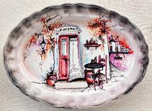 Ceramic Greek plate Stock Images