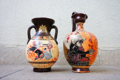 Ceramic Greek vases Royalty Free Stock Photography