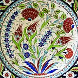 Ceramic hand painted Plates Souvenir background. Floral ornament ceramic hand painted ceramic tile arabic style background stock photos