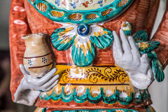 Ceramic handicraft. Famous hand decorated ceramic puppets in Grottaglie, south of Italy Stock Image