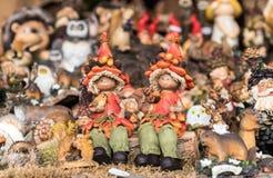 Ceramic handmade toys Stock Image