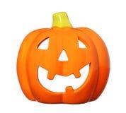 Ceramic Happy Halloween Pumpkin, Jack O Lantern isolated Royalty Free Stock Photography