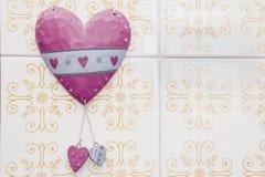 Ceramic hearts Royalty Free Stock Photography