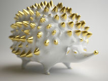 Ceramic hedgehog. Depth of field Stock Image