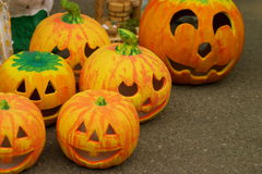 Ceramic hellowen pumpkin Stock Image