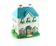 Ceramic House. Cute little ceramic house isolated on white royalty free stock photos