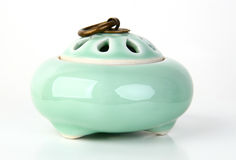 Ceramic incense burner. With clip path Royalty Free Stock Photo
