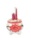 Ceramic incense burner on white background Royalty Free Stock Photo