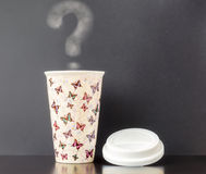 Ceramic Insulated Cup Royalty Free Stock Image