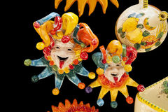 Ceramic Italian Clowns Stock Photo