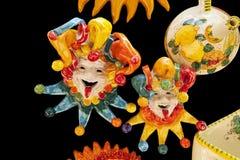 Ceramic Italian Clowns Stock Photo