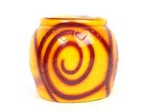 Ceramic jar. Close up shot of a ceramic jar royalty free stock images