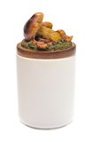 Ceramic jar with a lid shaped Stock Images