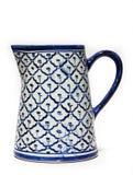 Ceramic jar. On white background Stock Photos