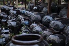 Ceramic jars Stock Photos