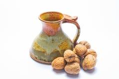 Ceramic jug royalty free stock photo