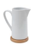 Ceramic jug  on white background Stock Images