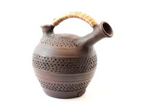 Ceramic jug for wine Stock Photography